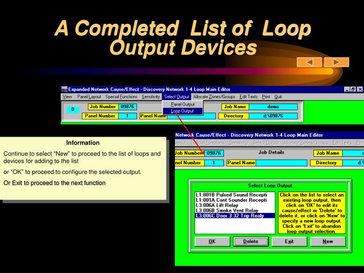 A Completed  List of  Loop