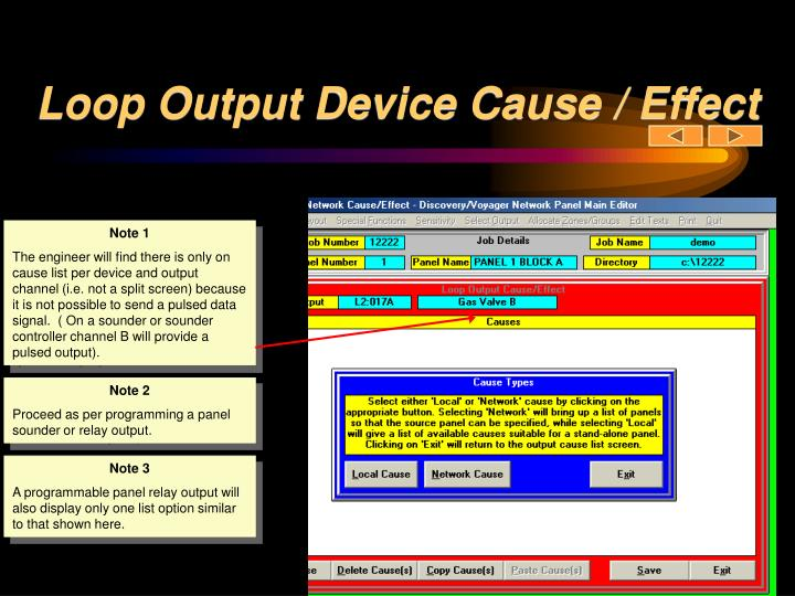 Loop Output Device Cause / Effect