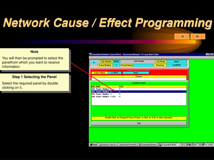 Network Cause / Effect Programming