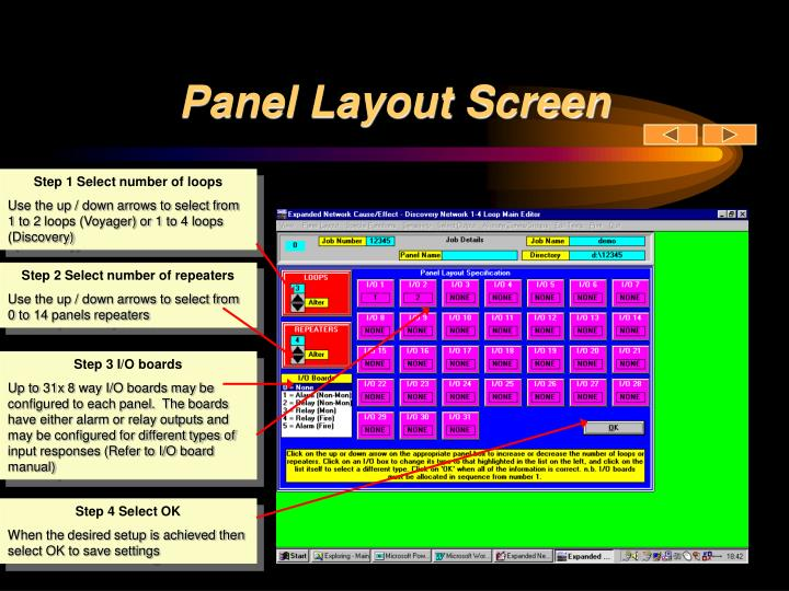 Panel Layout Screen