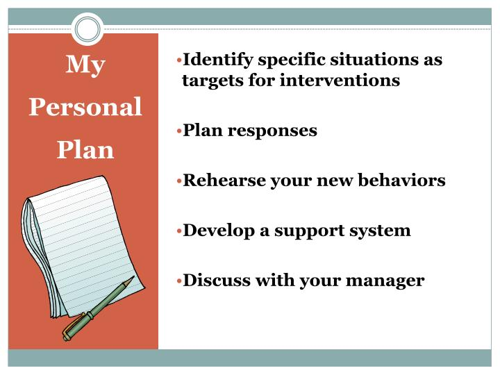 Identify specific situations as targets for interventions