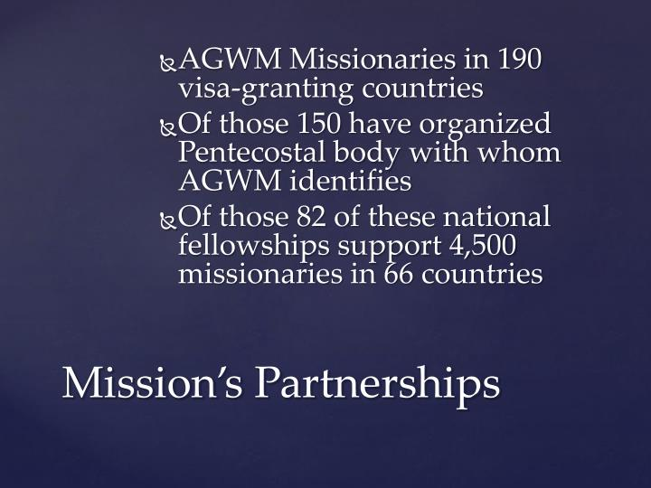 AGWM Missionaries in 190 visa-granting countries