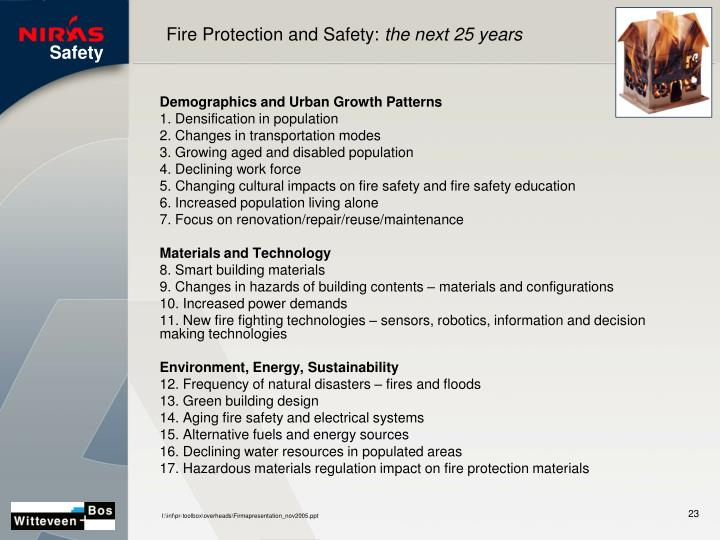 Fire Protection and Safety: