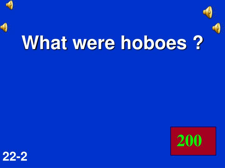 What were hoboes ?