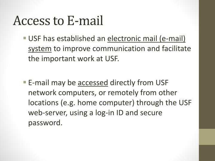 Access to E-mail