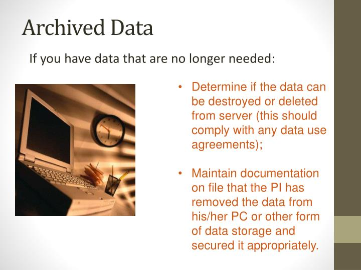 Archived Data
