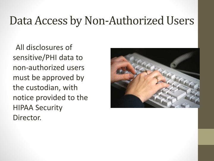 Data Access by Non-Authorized Users