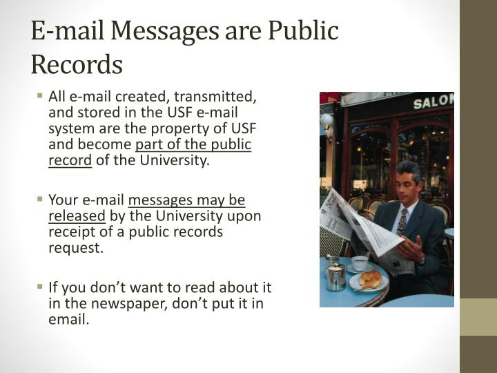 E-mail Messages are Public Records