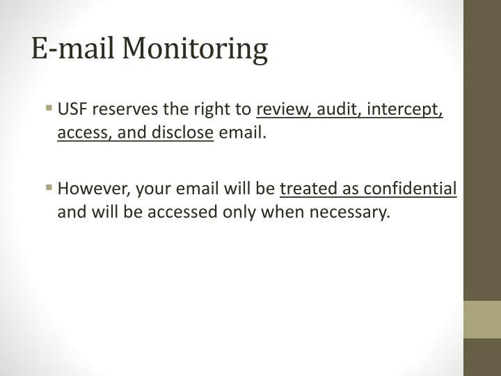 E-mail Monitoring