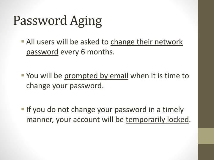 Password Aging
