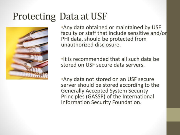 Protecting  Data at USF