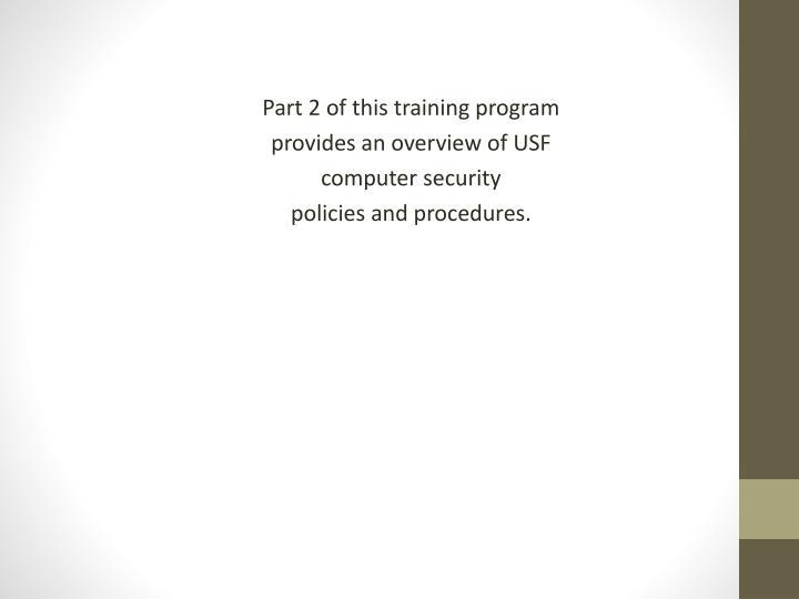Part 2 of this training program