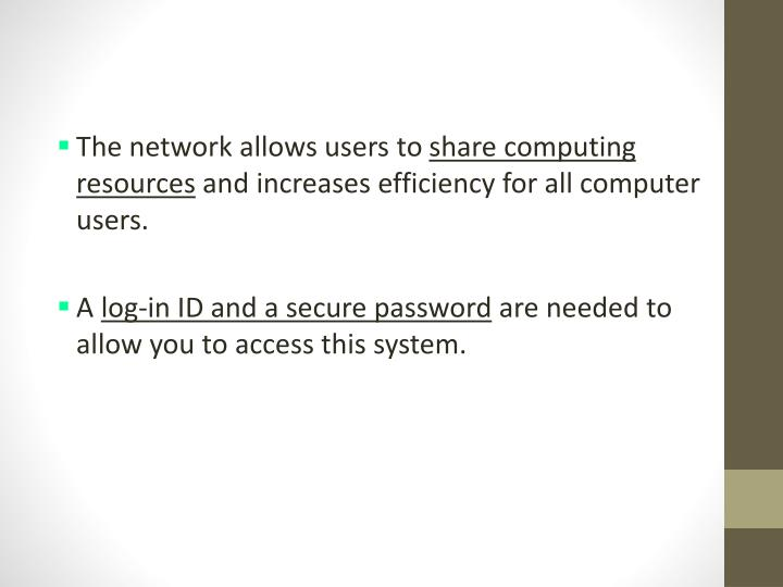 The network allows users to