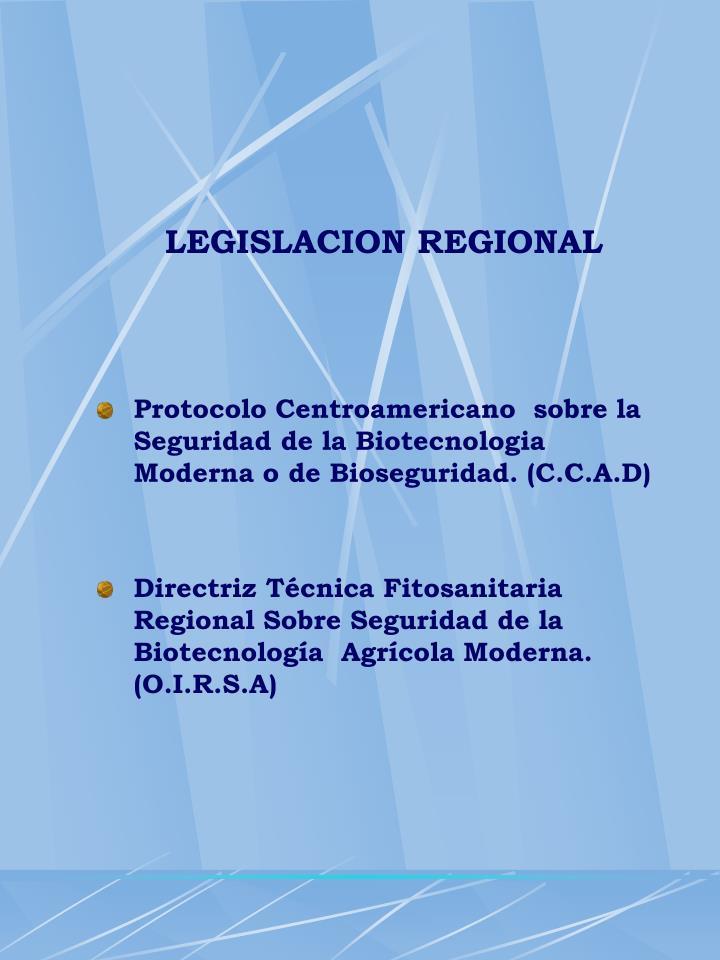 LEGISLACION REGIONAL