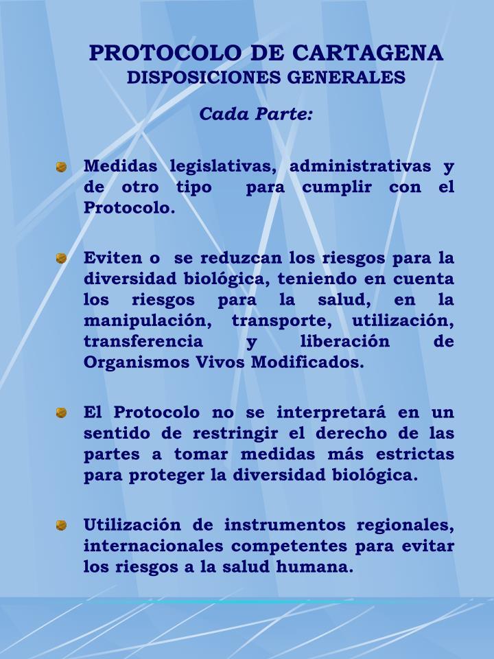 PROTOCOLO DE CARTAGENA