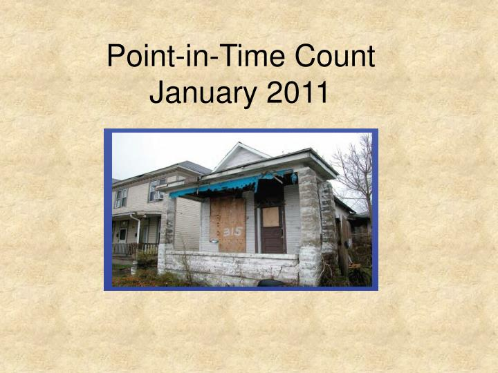 Point in time count january 2011