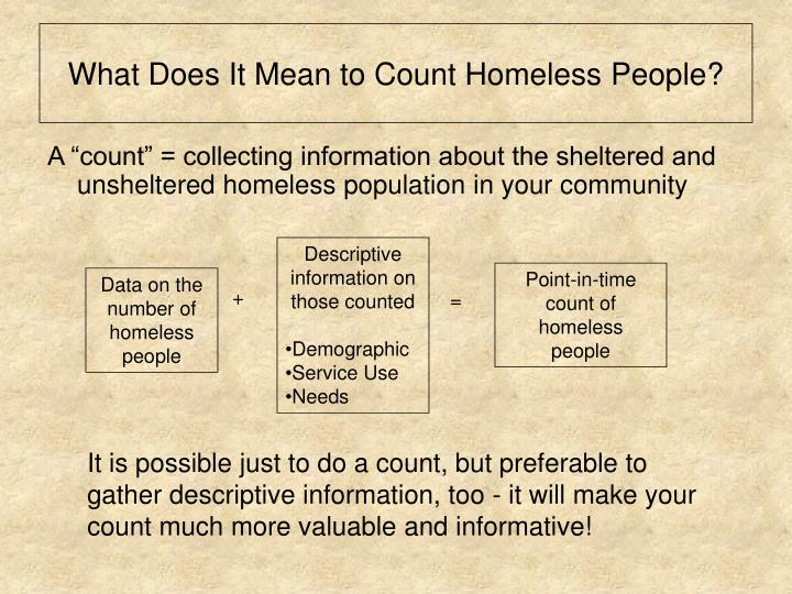 What does it mean to count homeless people