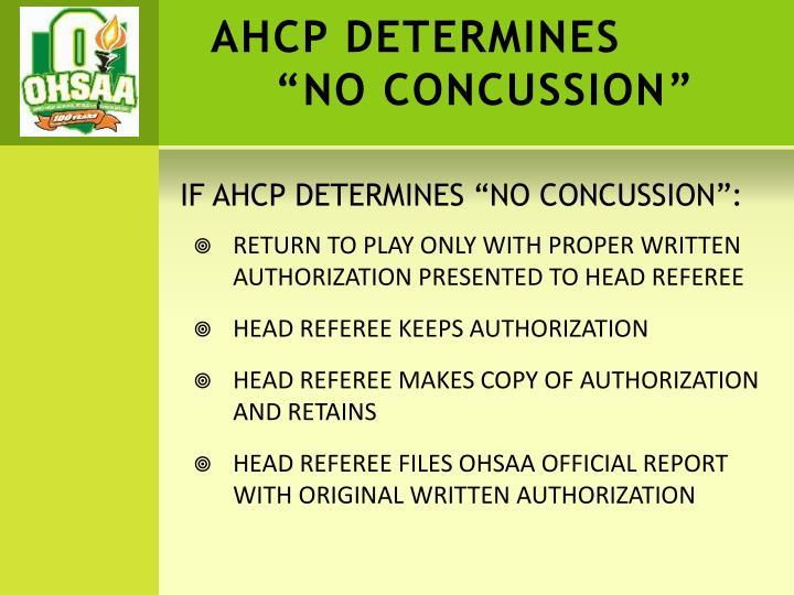 AHCP DETERMINES