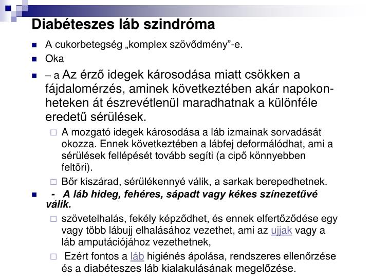 Diabéteszes láb szindróma
