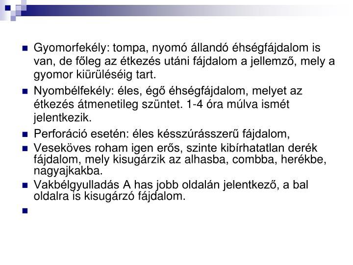 Gyomorfekély: