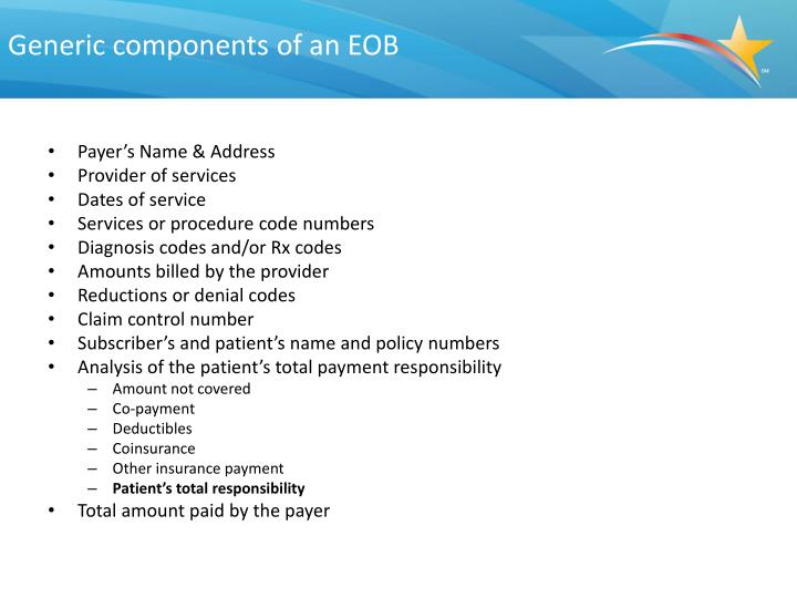 Generic components of an EOB