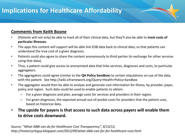 Implications for Healthcare Affordability