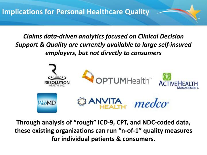 Implications for Personal Healthcare Quality