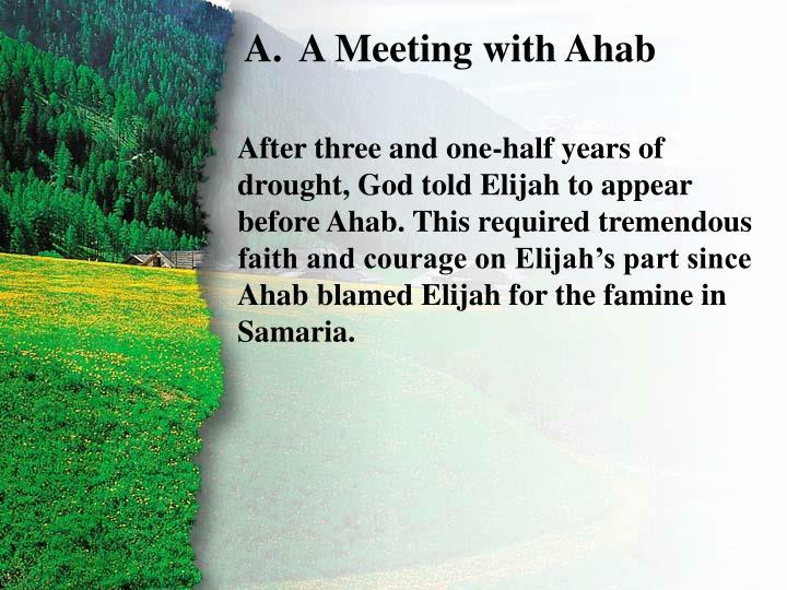 I. Confrontation with Ahab A