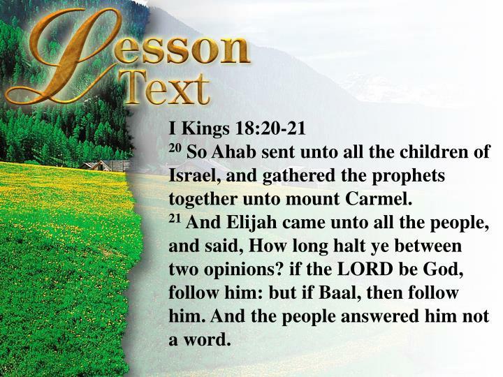 I Kings 18:20-21