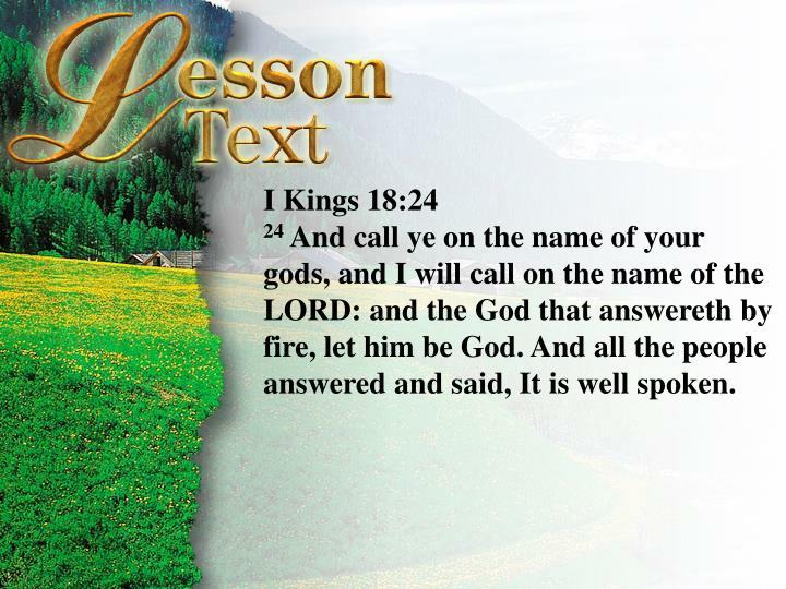 I Kings 18:24