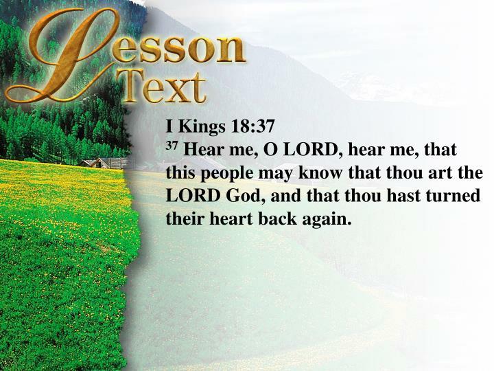 I Kings 18:36-37