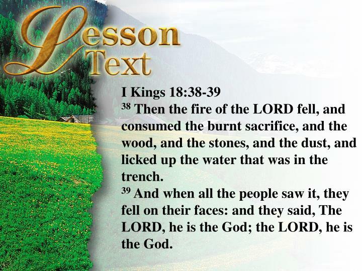 I Kings 18:38-39