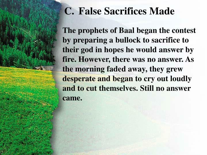 II. Challenge to Baal C