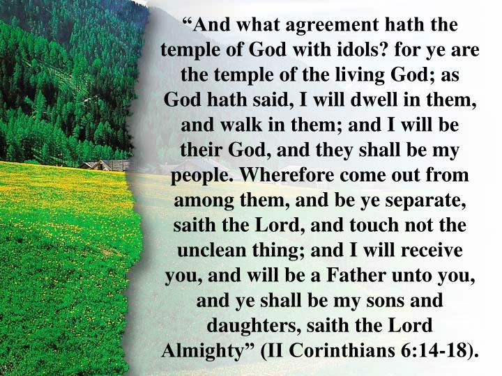 II Corinthians 6:16-18
