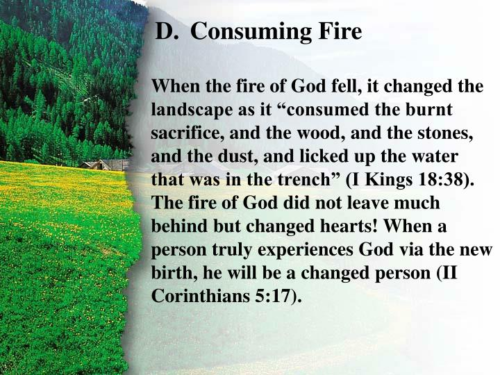 III. Consumed by Fire D