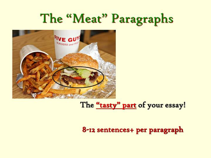 """The """"Meat"""" Paragraphs"""