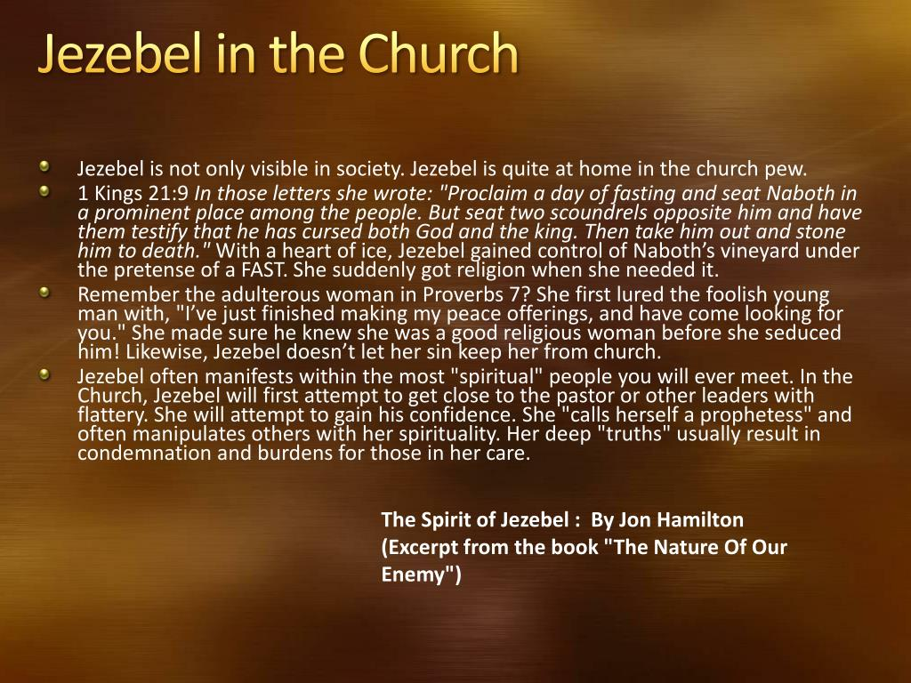 PPT - Discerning the Jezebel Spirit PowerPoint Presentation
