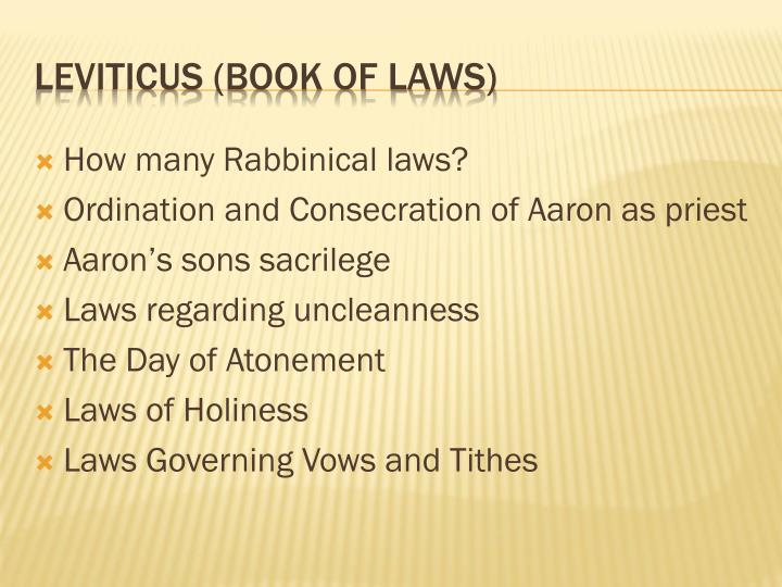How many Rabbinical laws?
