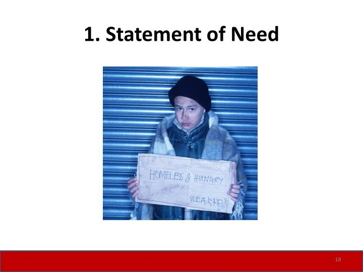 1. Statement of Need