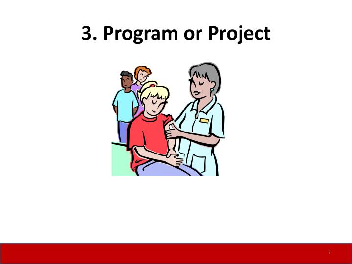 3. Program or Project