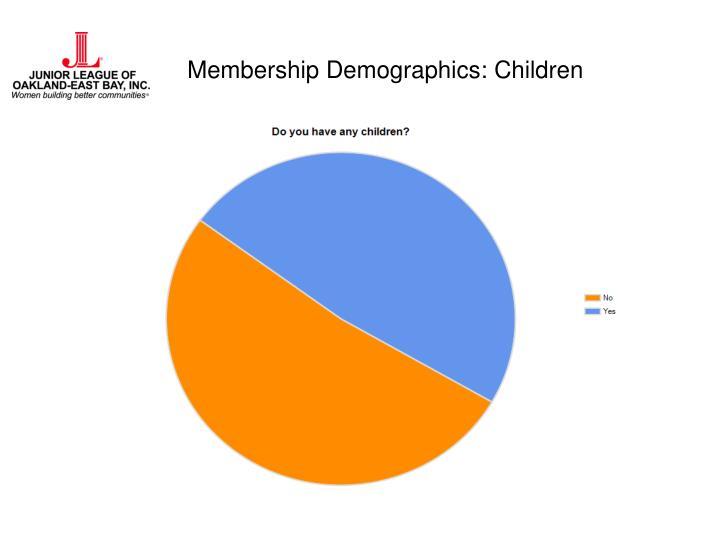 Membership Demographics: Children