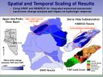 spatial and temporal scaling of results