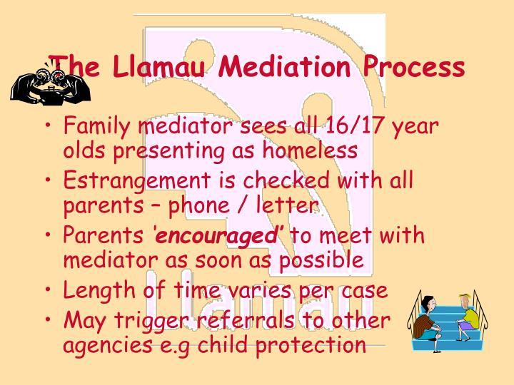 The Llamau Mediation Process