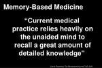 memory based medicine1
