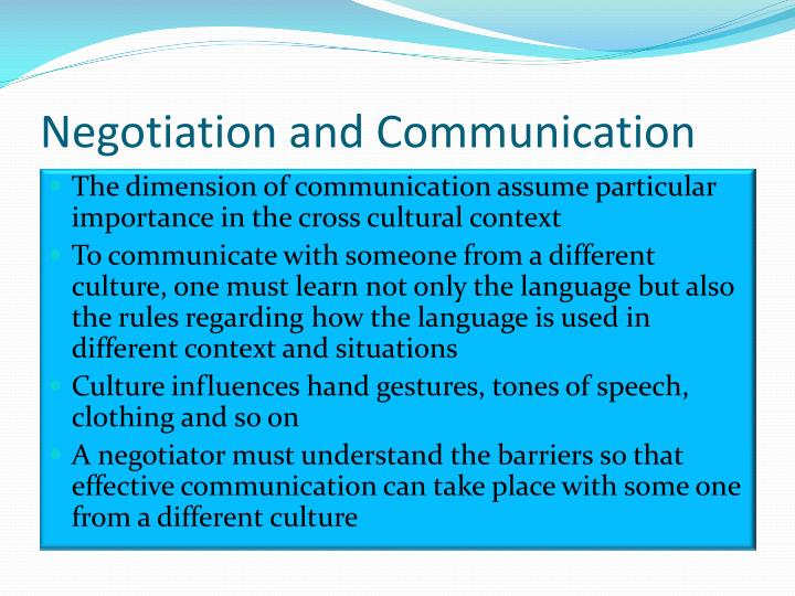 Negotiation and communication1