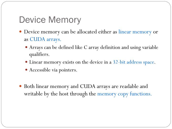 Device Memory