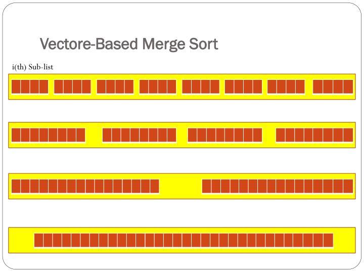 Vectore-Based Merge Sort