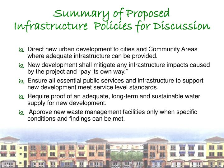 Summary of Proposed