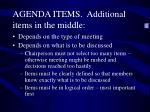 agenda items additional items in the middle
