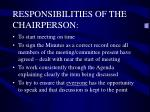 responsibilities of the chairperson1